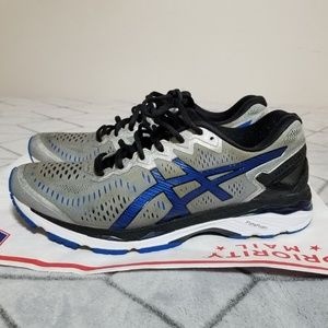 B32 Asics Mens Size 9.5 Sneakers Silver Blue Black
